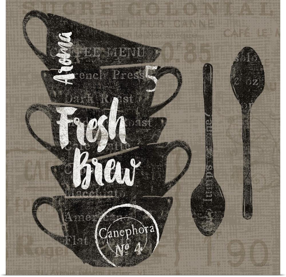 Poster Drucken  Linen Coffee III