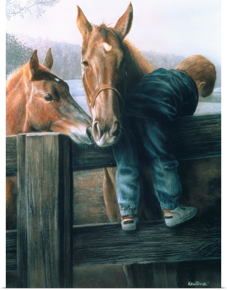 Poster Print Wall Art entitled Grandpa's Farm
