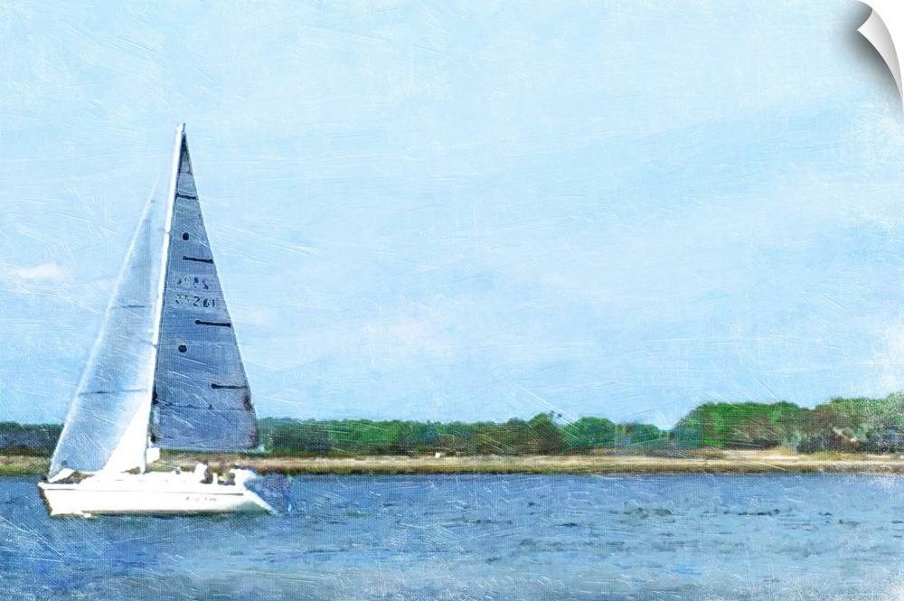 wand abziehbild entitled Boat Day
