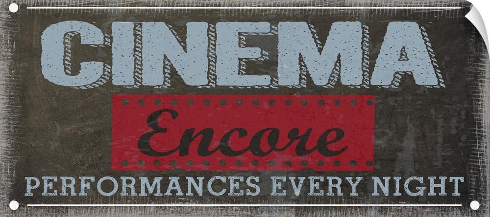 Wall Decal entitled Cinema Encore