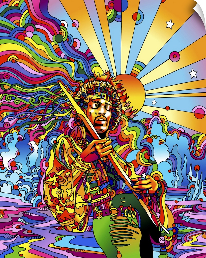 Wall Decal entitled Jimi  Colo