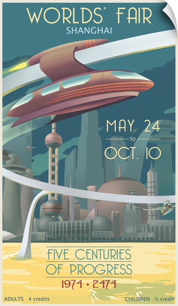 Wall Decal entitled Shanghai Worlds Fair