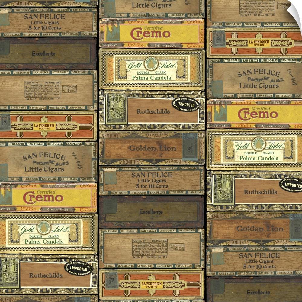 wand abziehbild entitled Cigar Boxes
