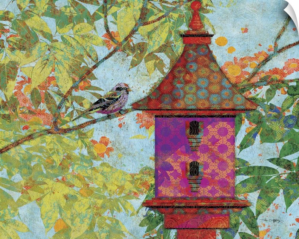 Wall Decal entitled viola Birdhouse