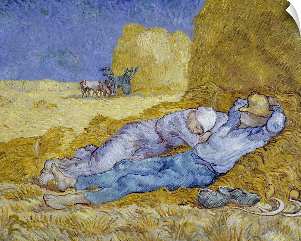 Wall Decal entitled The Siesta, Dec, 1889-Jan, 1890, By Dutch Post Impressionist