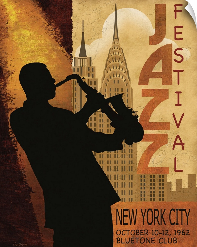 Wall Decal entitled 1962 Jazz in NY
