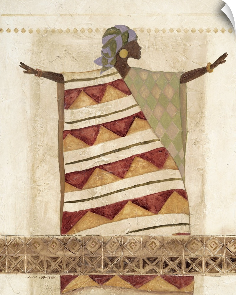 Wall Decal entitled African Beauty I