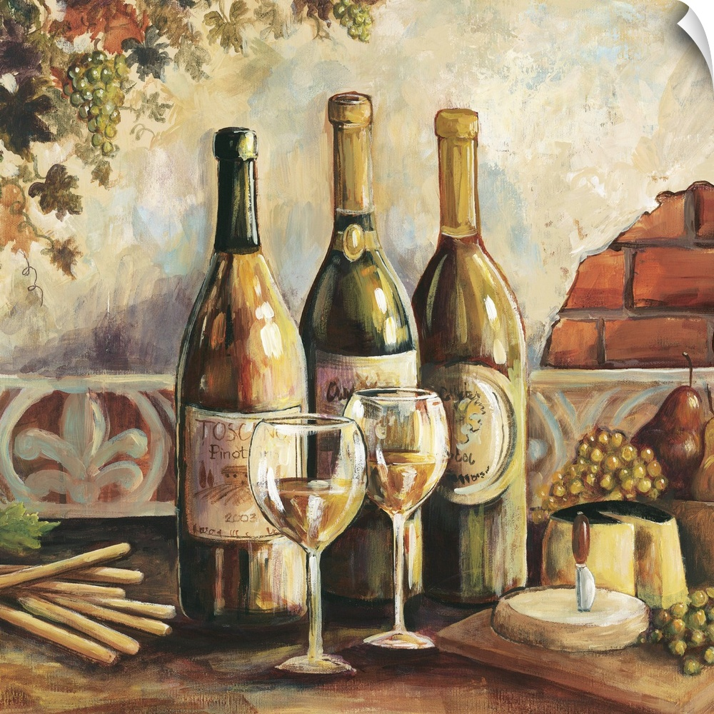 wand abziehbild entitled Bountiful Wine Square I