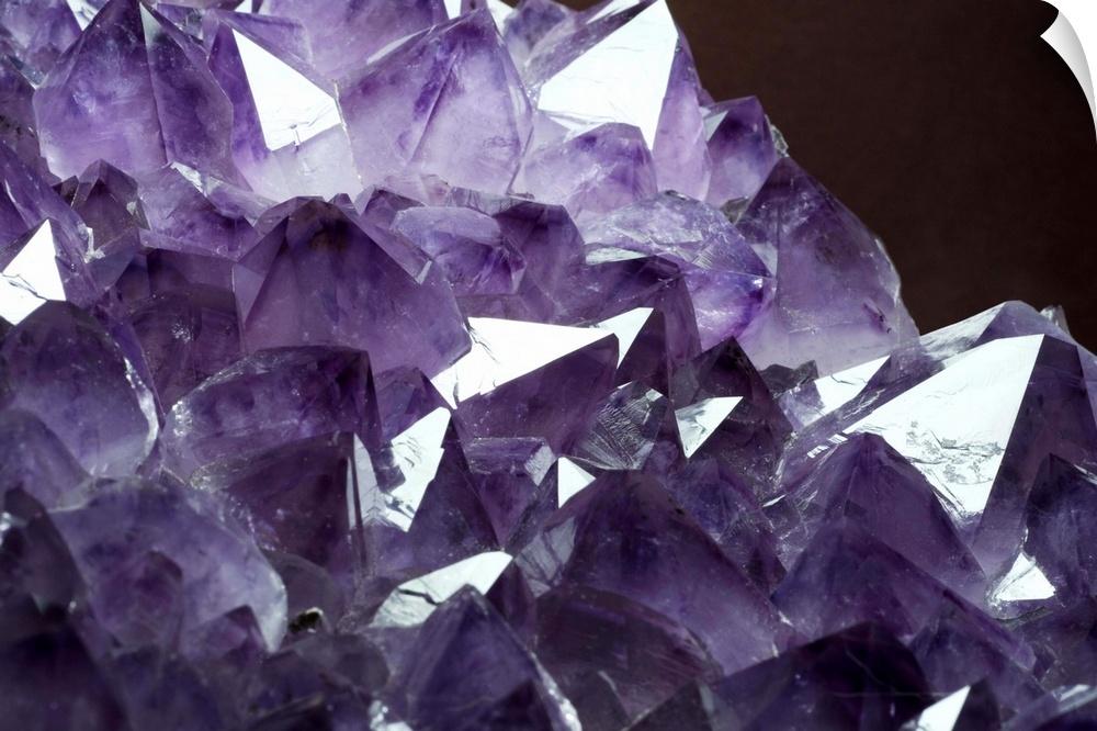 Wall Decal entitled Amethyst crystals
