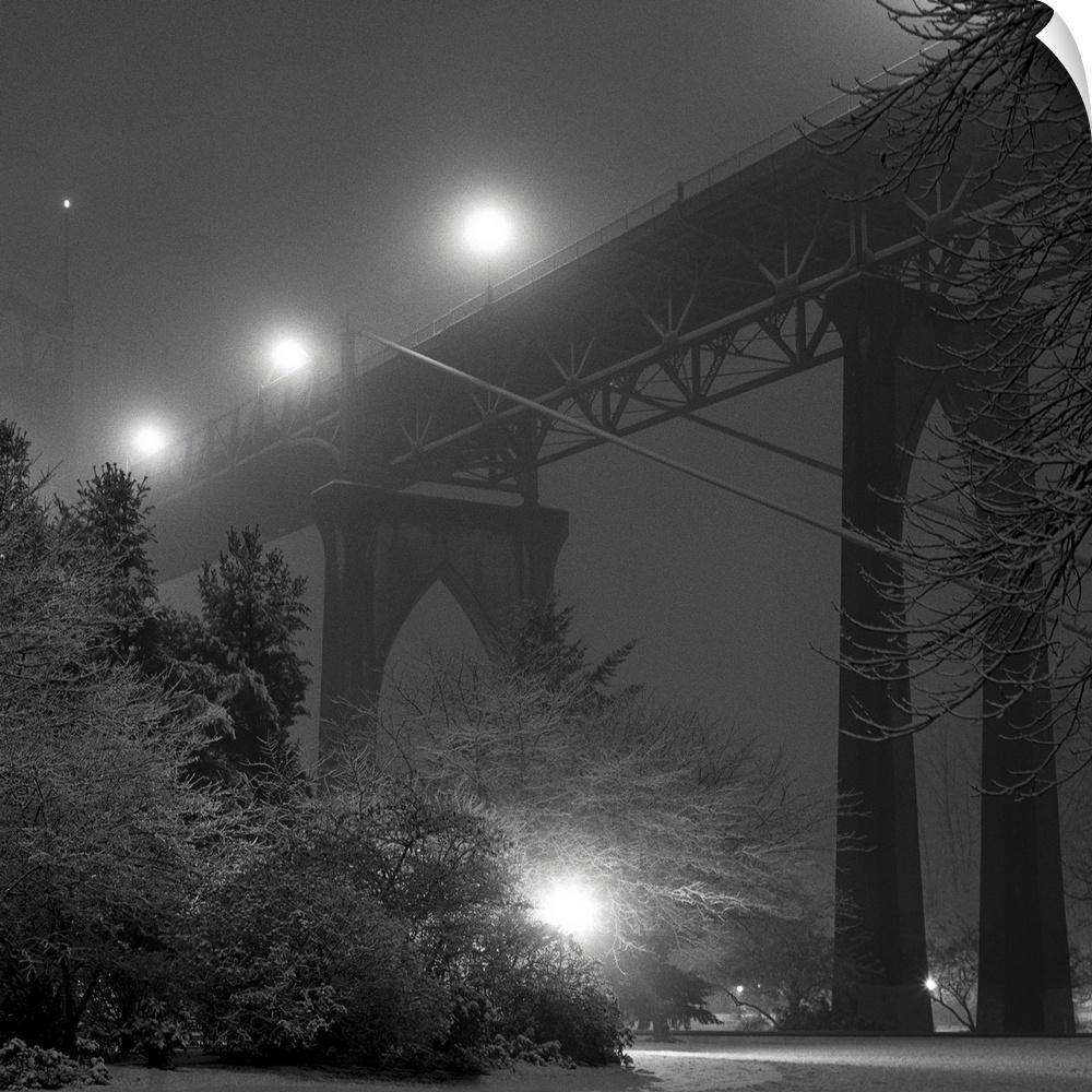 Wall Decal entitled Gothic, suspension St. Johns Bridge in Portland, Oregon