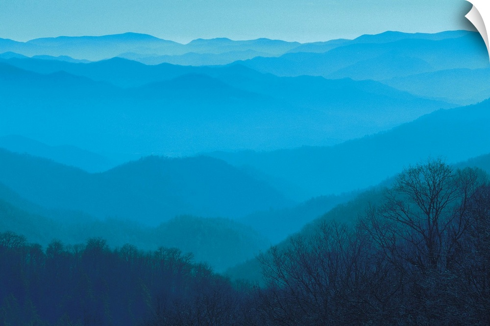 Wall Decal entitled Great Smoky Mountains in North Carolina