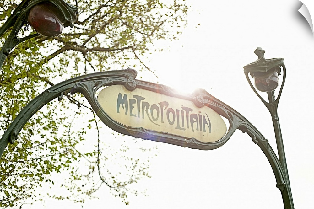 Wall Decal entitled Metro sign in Paris