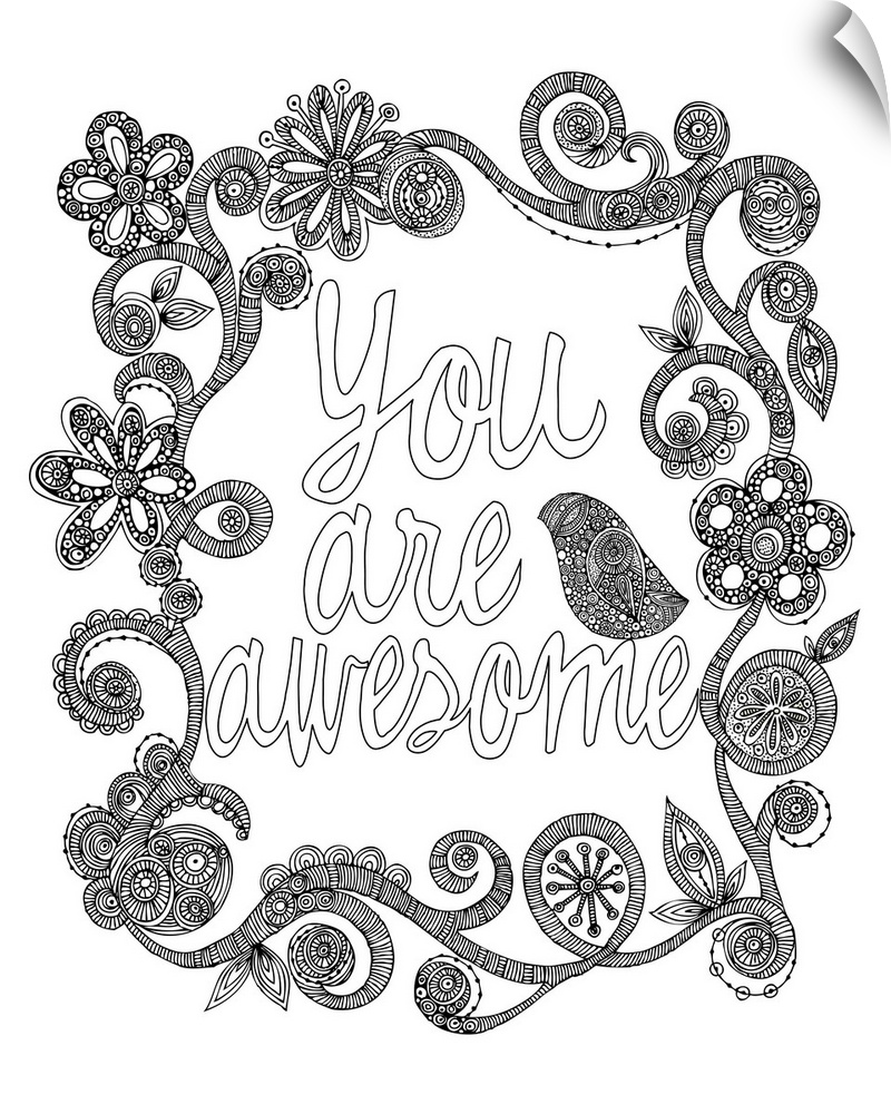Wall Decal entitled You Are Awesome