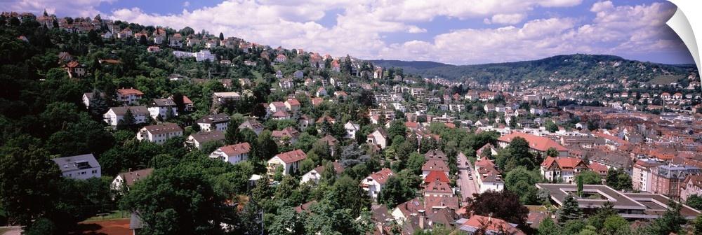wand abziehbild entitled Buildings in a city, Stuttgkunst, Baden-Wurttemberg, Germanny