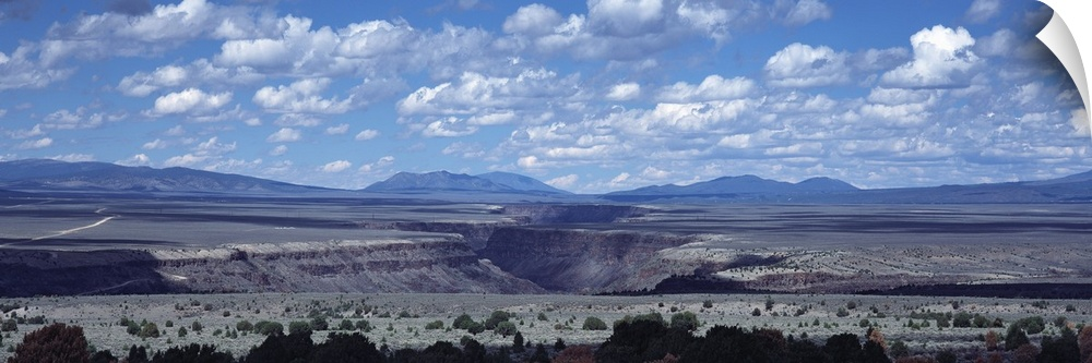 wand abziehbild entitled Clouds over a landscape, Rio Grande Gorge, Taos, New Mexico