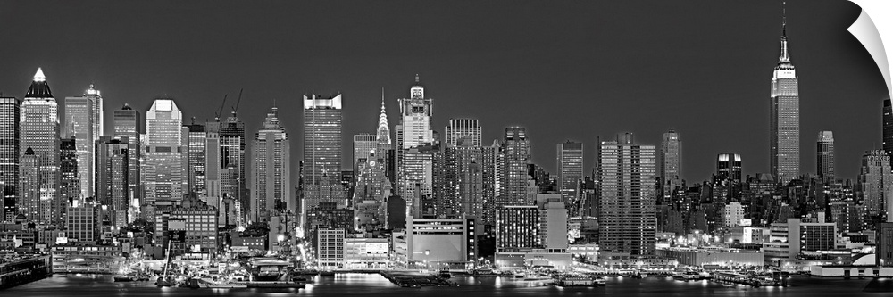 Wall Decal entitled New York, New York City, Panoramic view of the West side