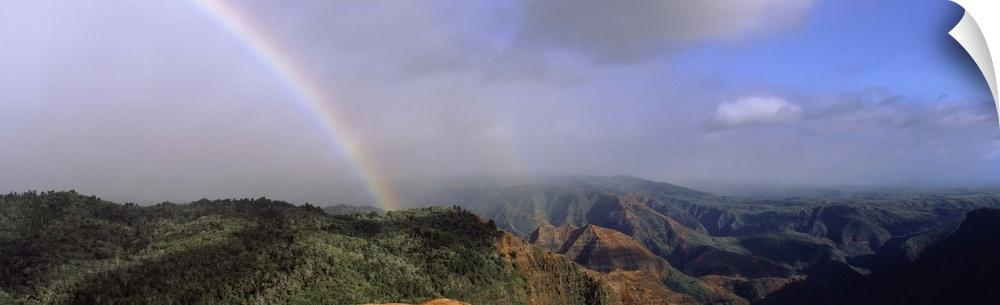 Wall Decal entitled Rainbow Waimea Canyon Kauai HI