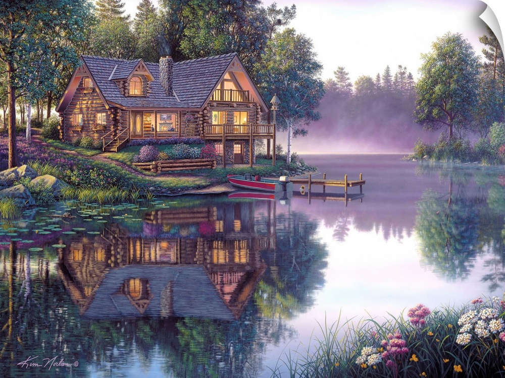 Wall Decal entitled Cabin Fever