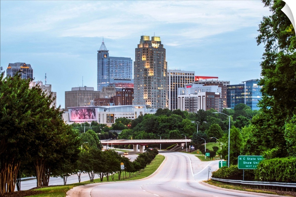 Raleigh Skyline Wallpaper