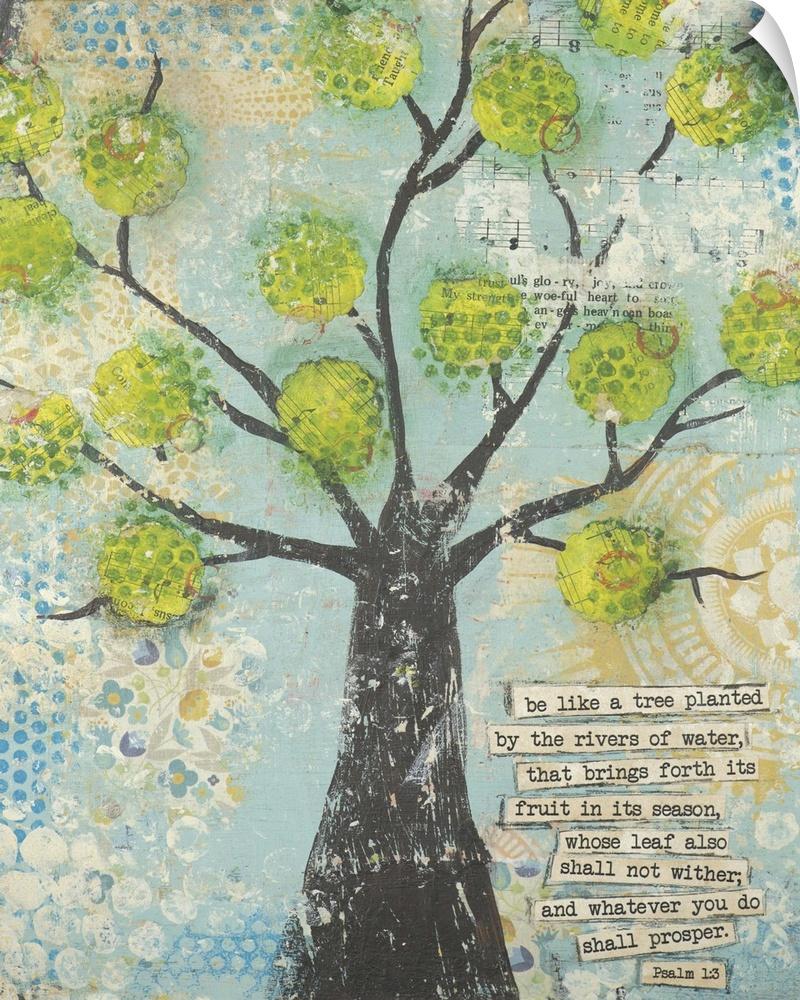 wand abziehbild entitled Be Like A Tree