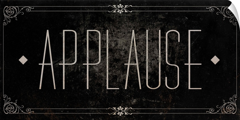 Wall Decal entitled Silent Film Type I (Applause)