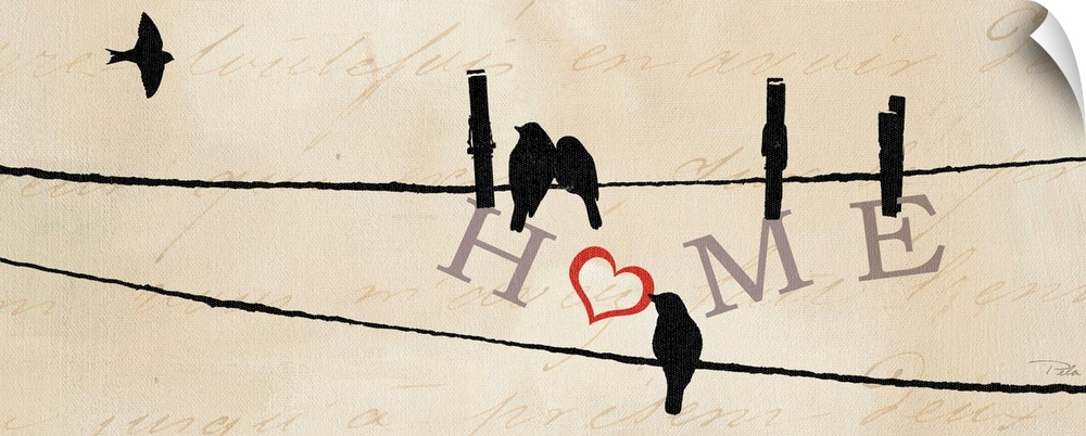 Wall Decal entitled Bird at Heart I