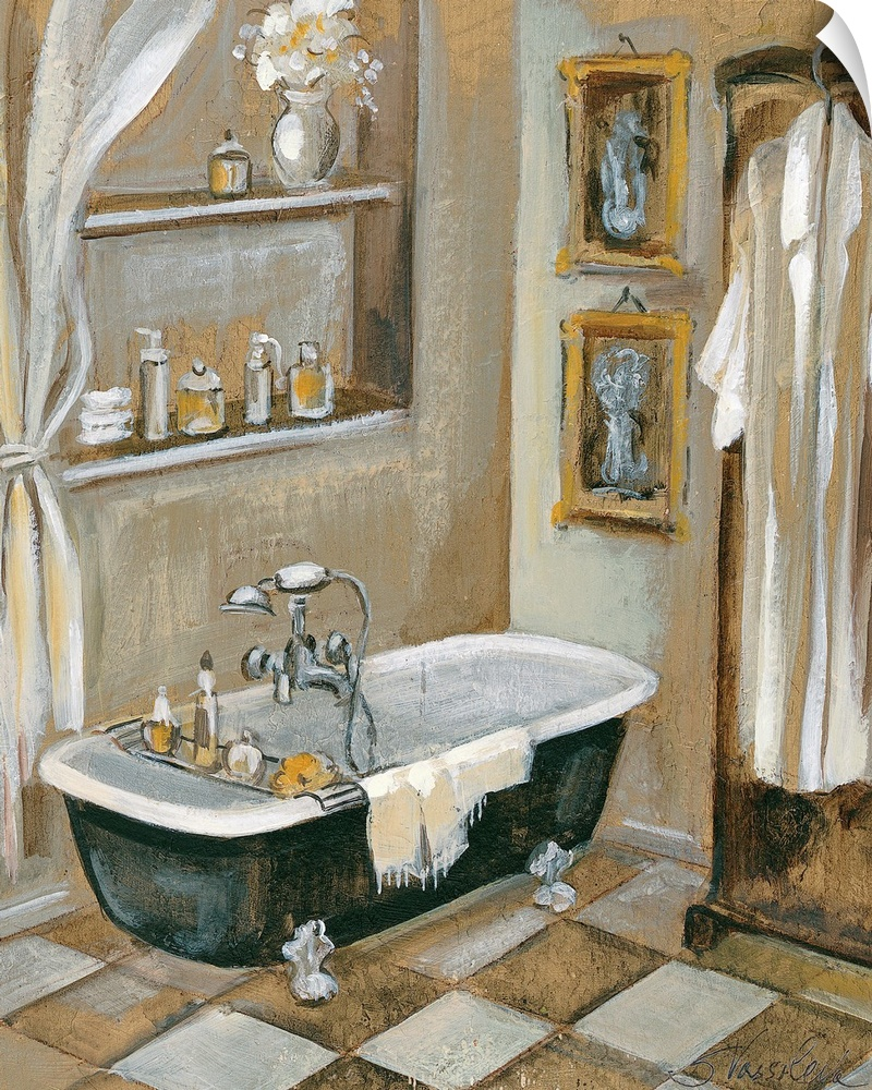 Wall Decal entitled French Bath III