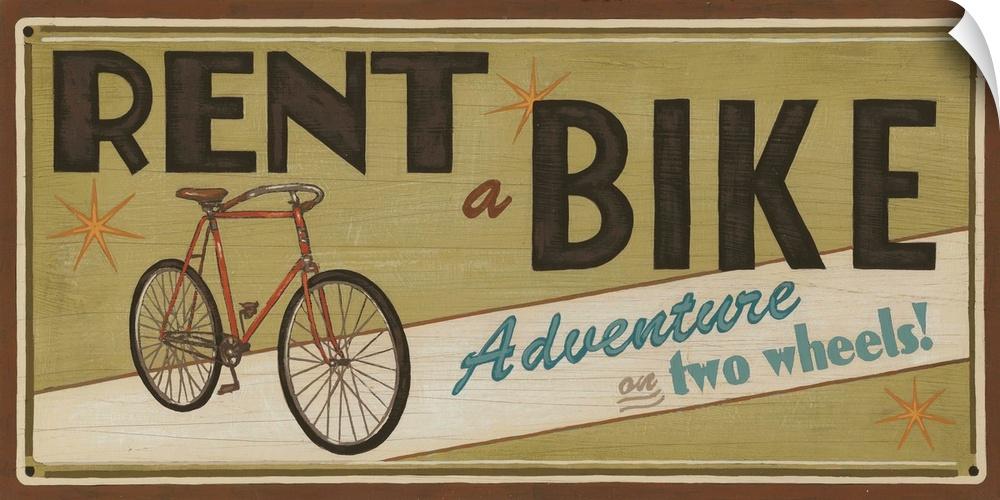 wand abziehbild entitled Bike Shop II