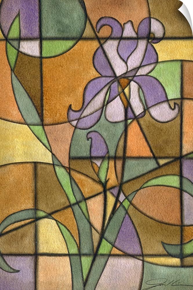 Wall Decal entitled Craftsman Flower III