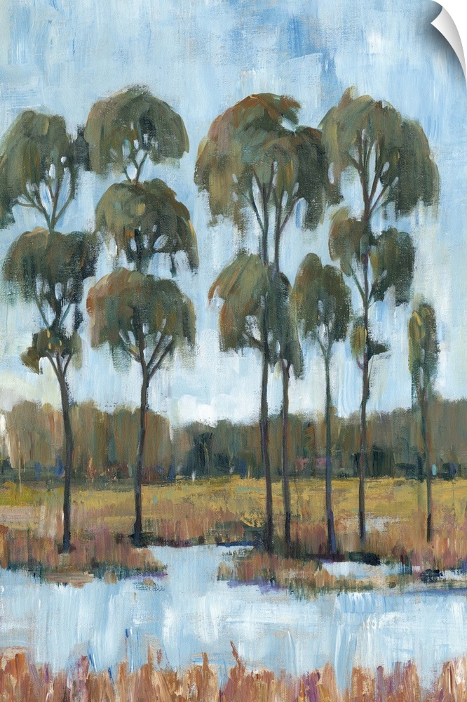 Wall Decal entitled Trees in the Marsh I