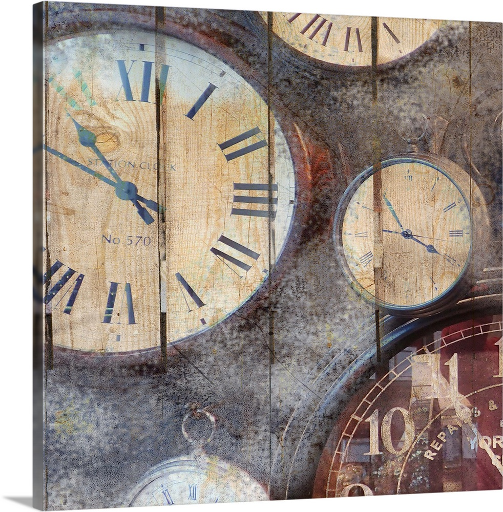 Solid-Faced Canvas Print Wall Art entitled In Time I