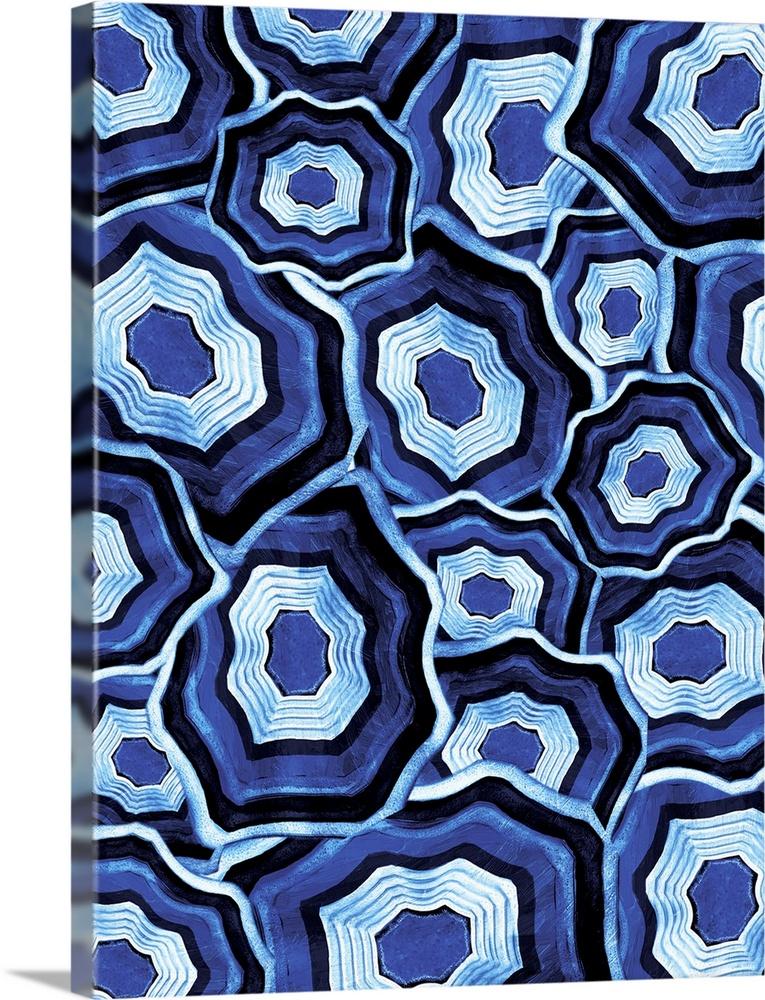 Solid-Faced Canvas Print Wall Art entitled Plenty Of blu Agates