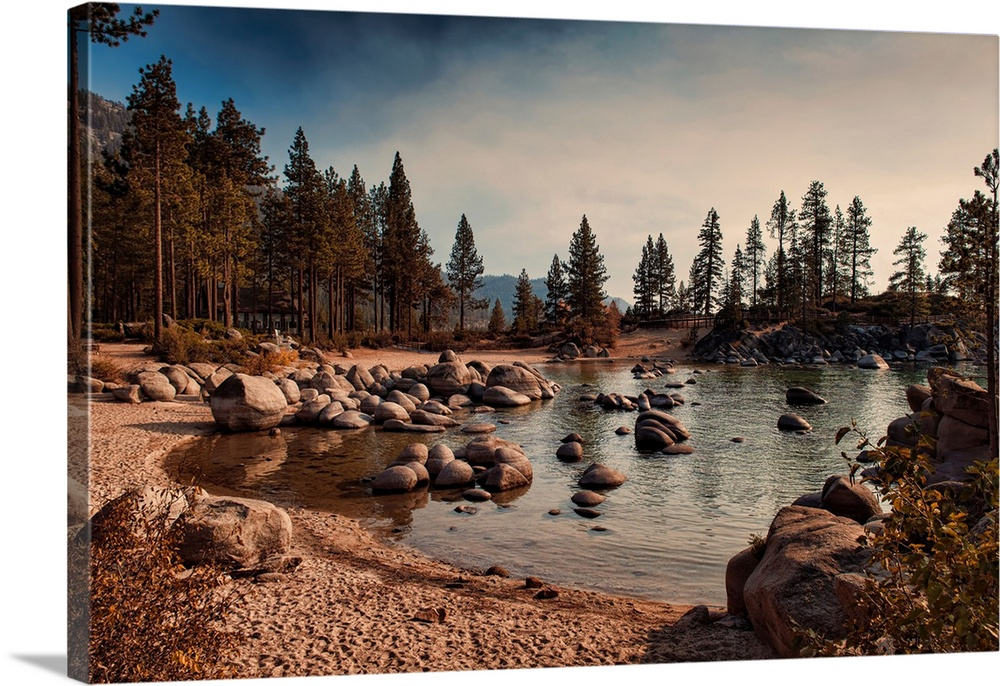 Solid-Faced Canvas Print Wall Art entitled Sand Harbor