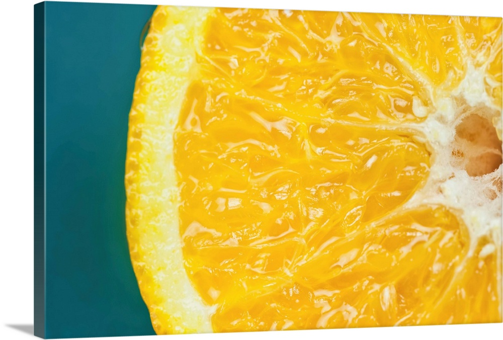Solid-Faced toile Print Wall Art entitled An Orange Half