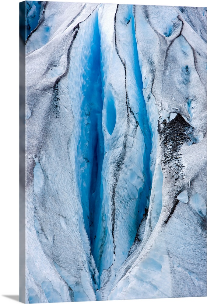 Large Solid-Faced Canvas Print Wall Art Print 20 x 30 entitled Close up detail of Shoup Glacier, Shoup Bay State Marine Pa... Solid-Faced Canvas Print entitled Close up detail of Shoup Glacier, Shoup Bay State Marine Park, Valdez, Southcentral.  Multiple sizes available.  Primary colors within this image include Black, Muted Blue, Pale Blue.  Made in USA.  Satisfaction guaranteed.  Archival-quality UV-resistant inks.  Canvas is handcrafted and made-to-order in the United States using high quality artist-grade canvas.  Archival inks prevent fading and preserve as much fine detail as possible with no over-saturation or color shifting.