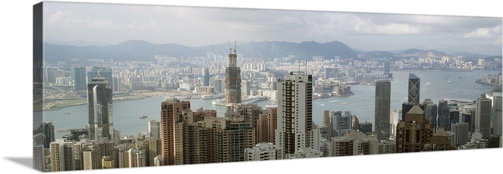 Canvas Kunst Drucken  Hong Kong Harbor