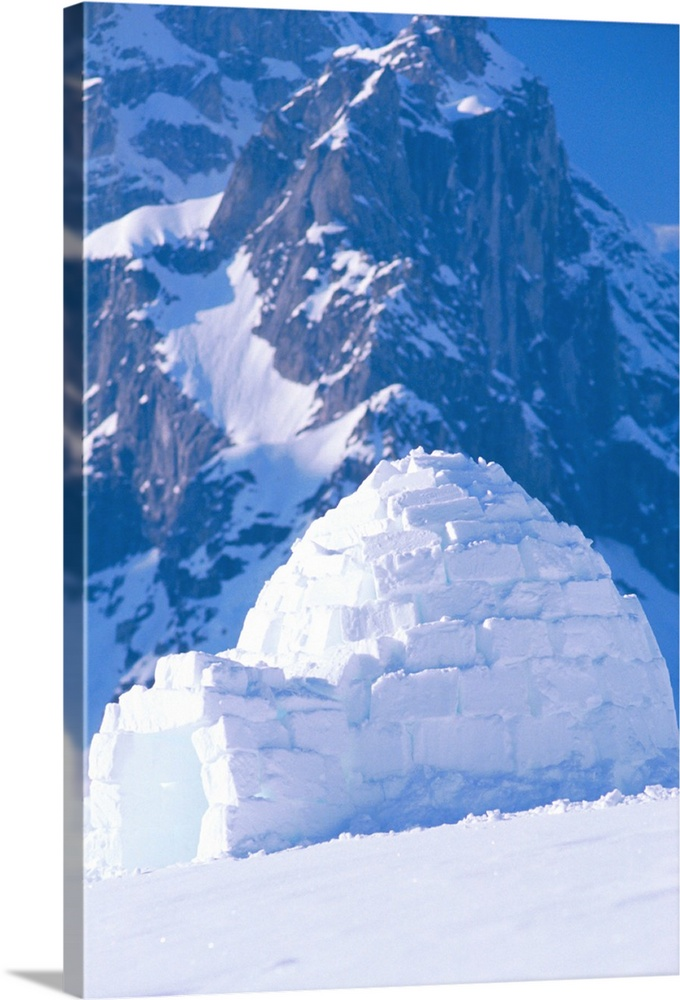 Large Solid-Faced Canvas Print Wall Art Print 20 x 30 entitled Igloo Ruth Amphitheater Day Scenic Alaska Range Interior Solid-Faced Canvas Print entitled Igloo Ruth Amphitheater Day Scenic Alaska Range Interior.  Multiple sizes available.  Primary colors within this image include Black, Muted Blue, Pale Blue.  Made in USA.  All products come with a 365 day workmanship guarantee.  Inks used are latex-based and designed to last.  Canvas depth is 1.25 and includes a finished backing with pre-installed hanging hardware.  Canvas is handcrafted and made-to-order in the United States using high quality artist-grade canvas.