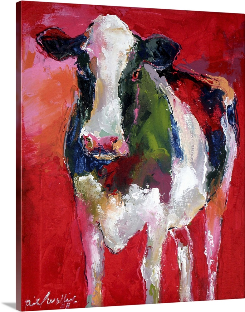Solid-Faced toile Print Wall Art entitled Cow