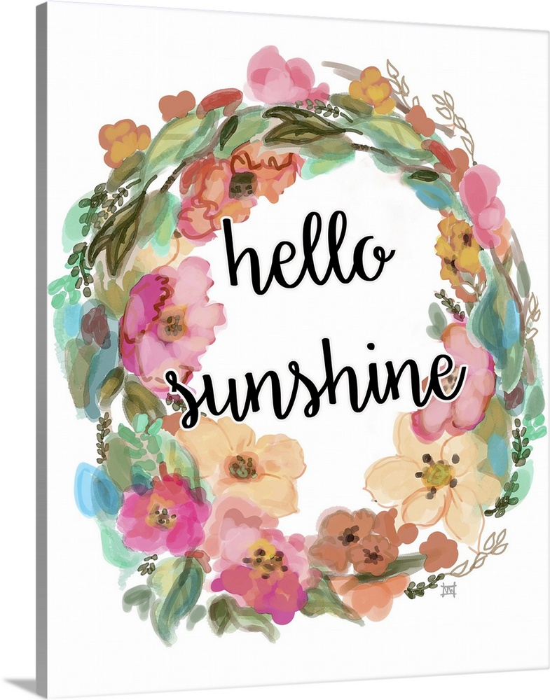 Solid-Faced Canvas Print Wall Art entitled Hello Sunshine