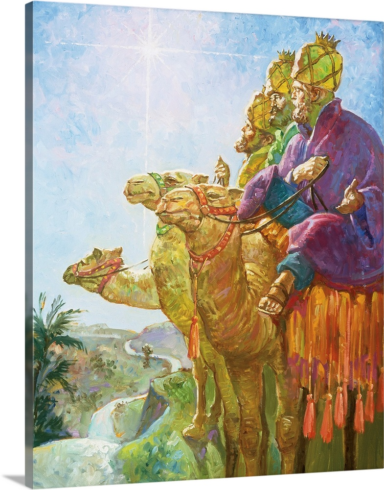 Solid-Faced Canvas Print Wall Art entitled Three Wise Men