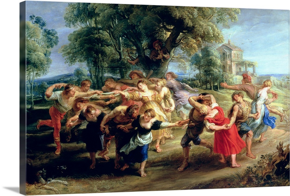 Solid-Faced Canvas Print Wall Art entitled A Peasant Dance, 1636 40