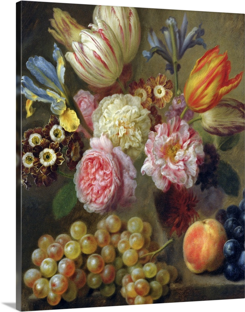 Solid-Faced Canvas Print Wall Art entitled Flower Study