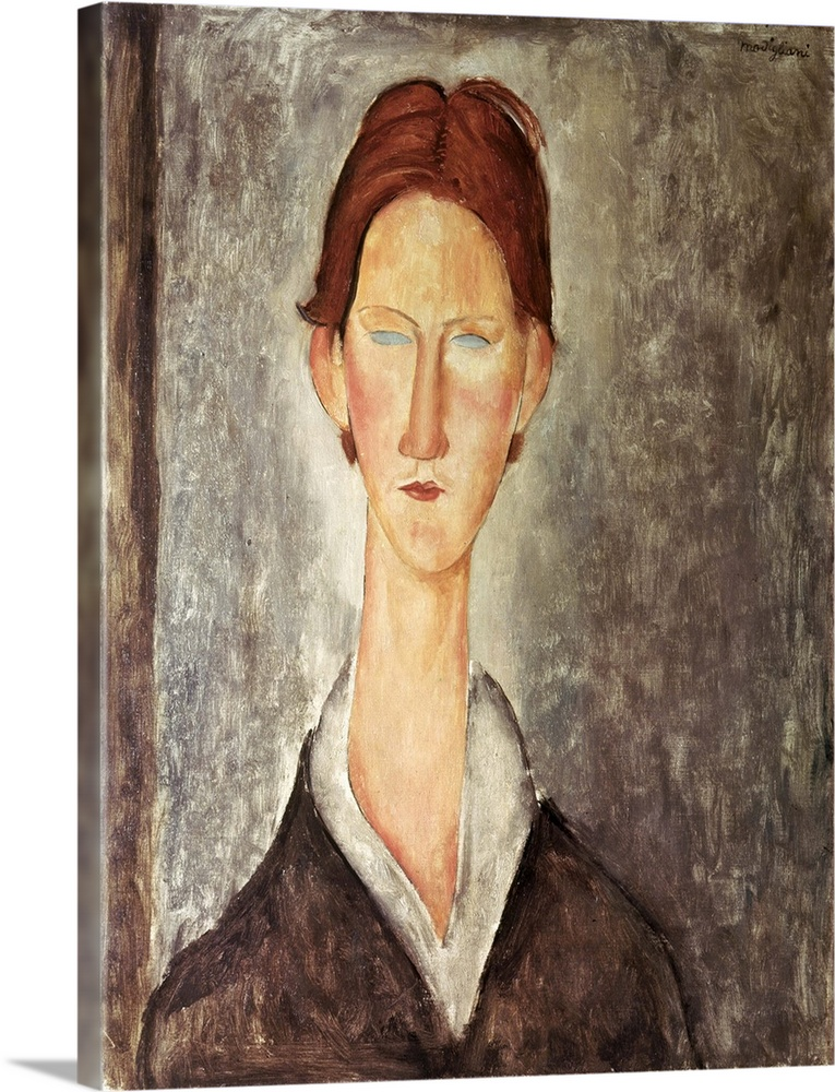 Solid-Faced Canvas Print Wall Art entitled Portrait of a Student, c.1918 19