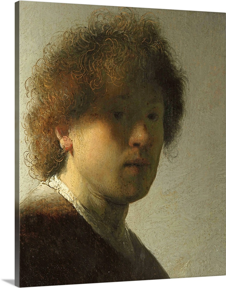 Solid-Faced Canvas Print Wall Art entitled Self Portrait as a Young Man, c.1628