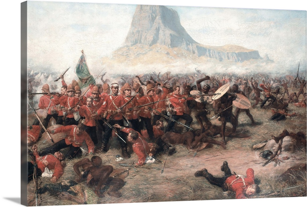 Canvas Kunst Drucken  The Battle of Isandlwana