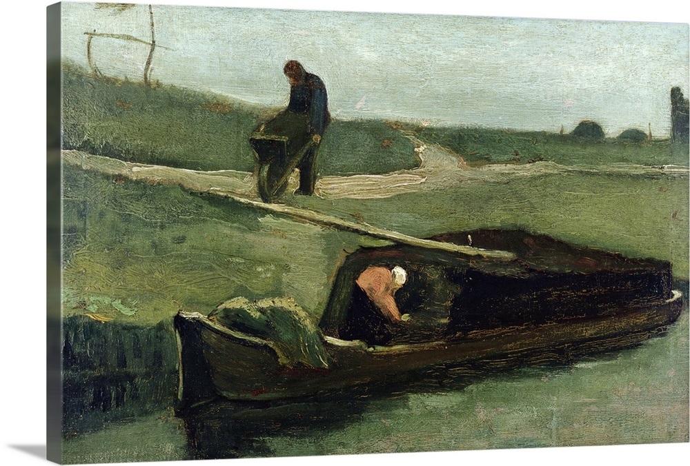 034-The-Peat-Boat-1883-034-Canvas-Art-Print thumbnail 2