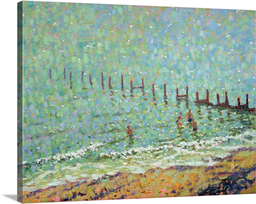 Canvas Kunst Drucken  The Sea at Southwold, Hot June Day
