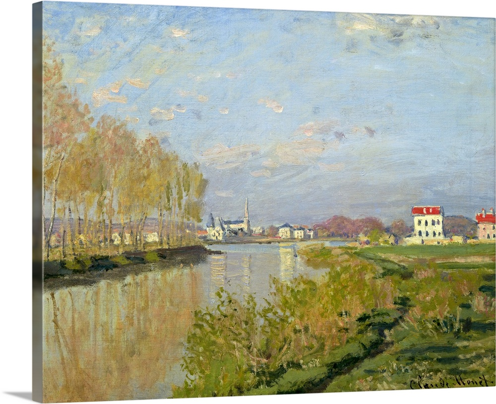Solid-Faced Canvas drucken wand kunst entitled The Seine at Silbereuil, 1873