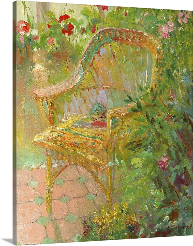 Large Solid-Faced Canvas Print Wall Art Print 24 x 30 entitled Wicker Chair, 2000 Solid-Faced Canvas Print entitled Wicker Chair, 2000.  Multiple sizes available.  Primary colors within this image include Brown, Dark Yellow, Light Yellow, White.  Made in the USA.  All products come with a 365 day workmanship guarantee.  Inks used are latex-based and designed to last.  Canvas depth is 1.25 and includes a finished backing with pre-installed hanging hardware.  Archival inks prevent fading and preserve as much fine detail as possible with no over-saturation or color shifting.