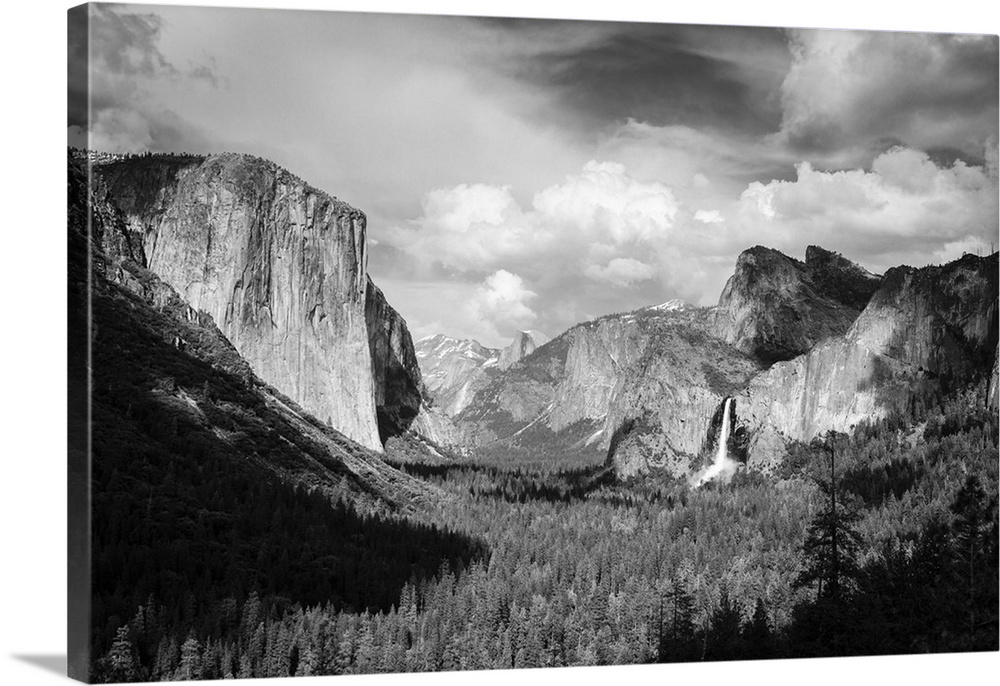 Solid-Faced Canvas Print Wall Art entitled Yosemite Valley from Tunnel View,